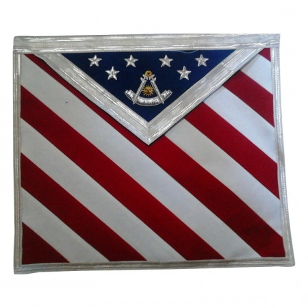 US Flag Past Master Apron