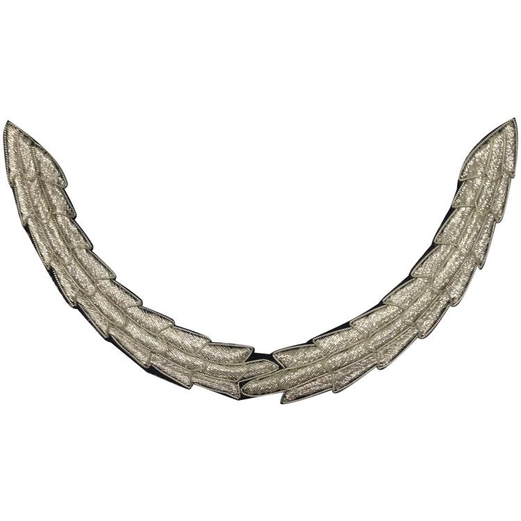 Silver Single Wreath Cap Peaks