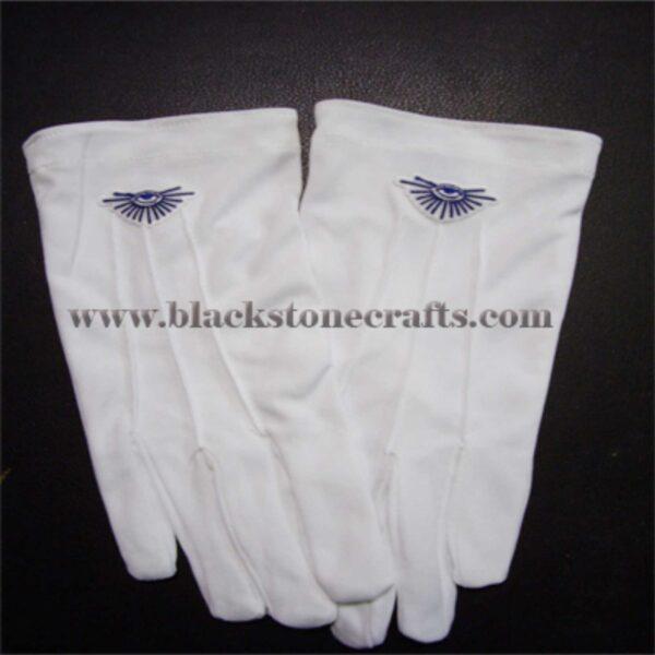White Cotton Masonic Gloves