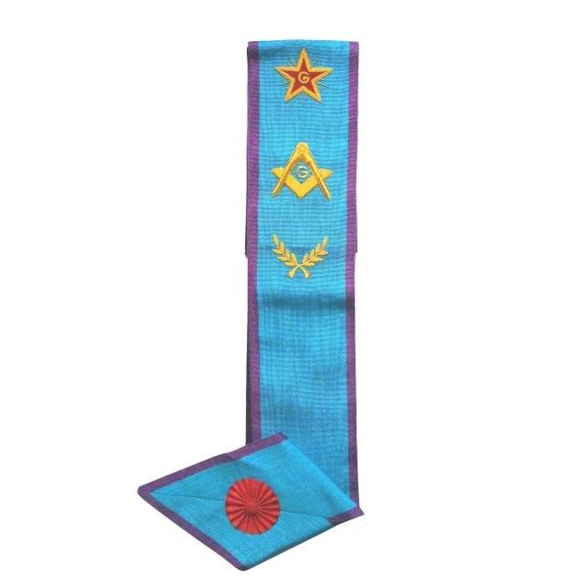French Rite Masonic Sash